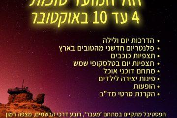 מעבר לכוכבים – סוכות 2017, פסטיבל אסטרונומיה במצפה רמון